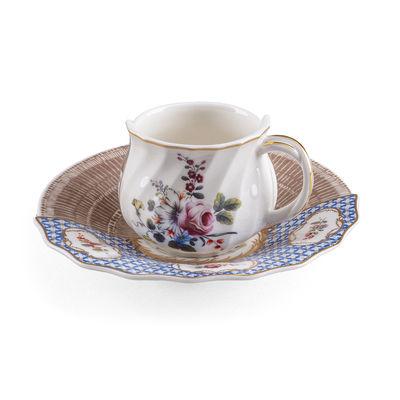 Tableware - Coffee Mugs & Tea Cups - Hybrid Djenne Coffee cup - / Coffee cup + saucer set by Seletti - Djenne - China