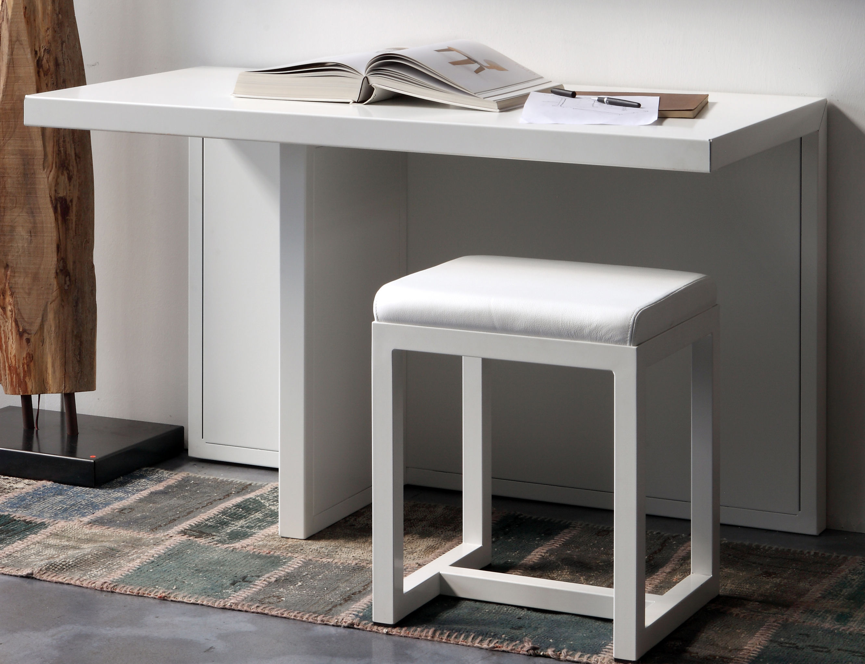 Arredamento - Mobili da ufficio - Console: Atrium - / Scrivania - Metallo - L 120 x P 60 cm di Zeus - Metallo bianco - Acciaio verniciato
