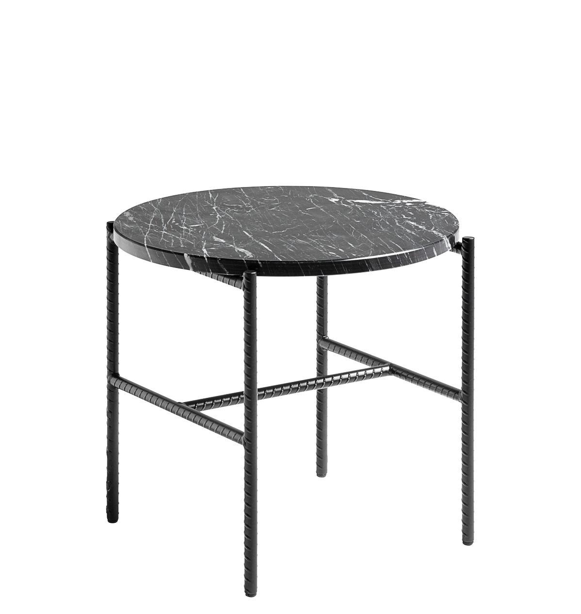Rebar Couchtisch Marmor O 45 Cm Schwarz Tischplatte