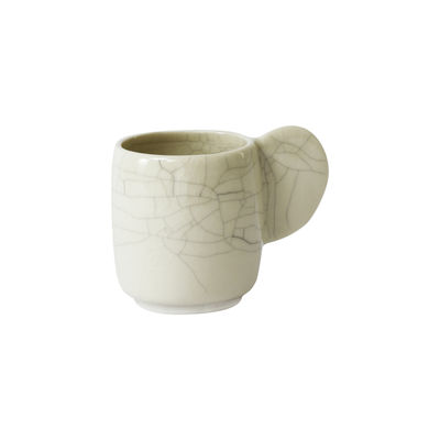 Tableware - Coffee Mugs & Tea Cups - Dashi Cup - Medium / 12 cl - Handmade stoneware by Jars Céramistes - Crackled quartz - Enamelled sandstone