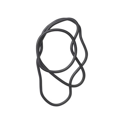 Dessous de plat Pond / Set de 3 anneaux - Laiton - Ferm Living noir en métal