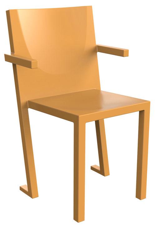 Mobilier - Chaises, fauteuils de salle à manger - Fauteuil empilable Diki Lessi / Plastique - TOG - Orange - Polyéthylène