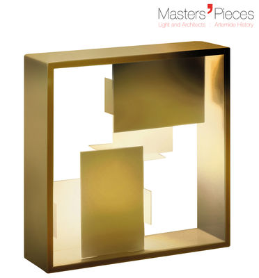 Lighting - Table Lamps - Masters' Pieces - Fato Lamp - / Reissue 1969 by Artemide - Gold - Varnished metal