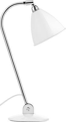 Luminaire - Lampes de table - Lampe de table Bestlite BL2 / Réédition de 1930 - Abat-jour métal - Gubi - Métal blanc / Pied chromé - Métal