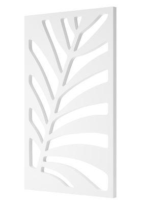 Mobilier - Paravents, séparations - Paravent Kentia / Treillage - 90 x  150 cm - Serralunga - Paravent / Blanc - Polyéthylène