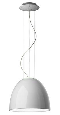 Lighting - Pendant Lighting - Nur Mini Gloss Pendant - Ø 36 cm - Lacquered version by Artemide - Glossy white - Halogen - Varnished aluminium