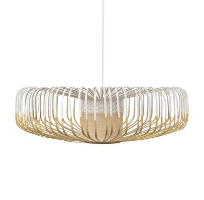 Leuchten - Pendelleuchten - Bamboo Up XXL Pendelleuchte / Ø 80 cm - Forestier - Weiß - Bambus