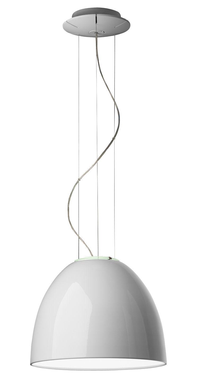 Leuchten - Pendelleuchten - Nur Mini Gloss Pendelleuchte Ø 36 cm - lackiert - Artemide - Weiß glänzend - Halogen - klarlackbeschichtetes Aluminium