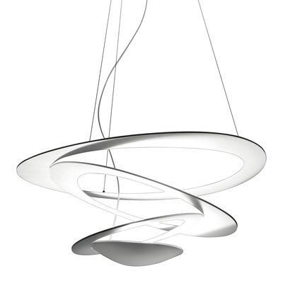 Leuchten - Pendelleuchten - Pirce Mini Pendelleuchte Halogenleuchte - Artemide - Weiß - klarlackbeschichtetes Aluminium