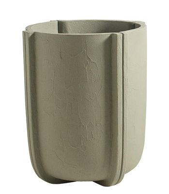 Pot de fleurs Cassero / Ø 60 x H 70 cm - Plastique effet béton - Serralunga vert-gris en matière plastique