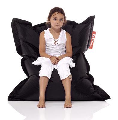 Furniture - Kids Furniture - Junior Pouf by Fatboy - Black - Nylon fabric