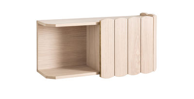 Arredamento - Scaffali e librerie - Scaffale Fanny - / L 74 cm - Rovere di Hartô - Rovere naturale - MDF rivestito in rovere