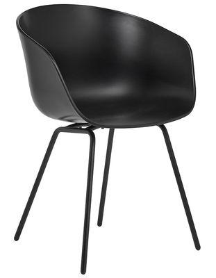 About a chair AAC26 Sessel / Kunststoff & Stuhlbeine aus Metall - Hay - Schwarz