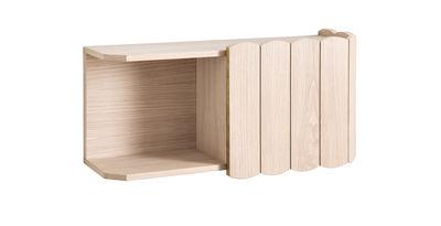 Furniture - Bookcases & Bookshelves - Fanny Shelf - / L 74 cm - Oak by Hartô - Natural oak - MDF veneer oak