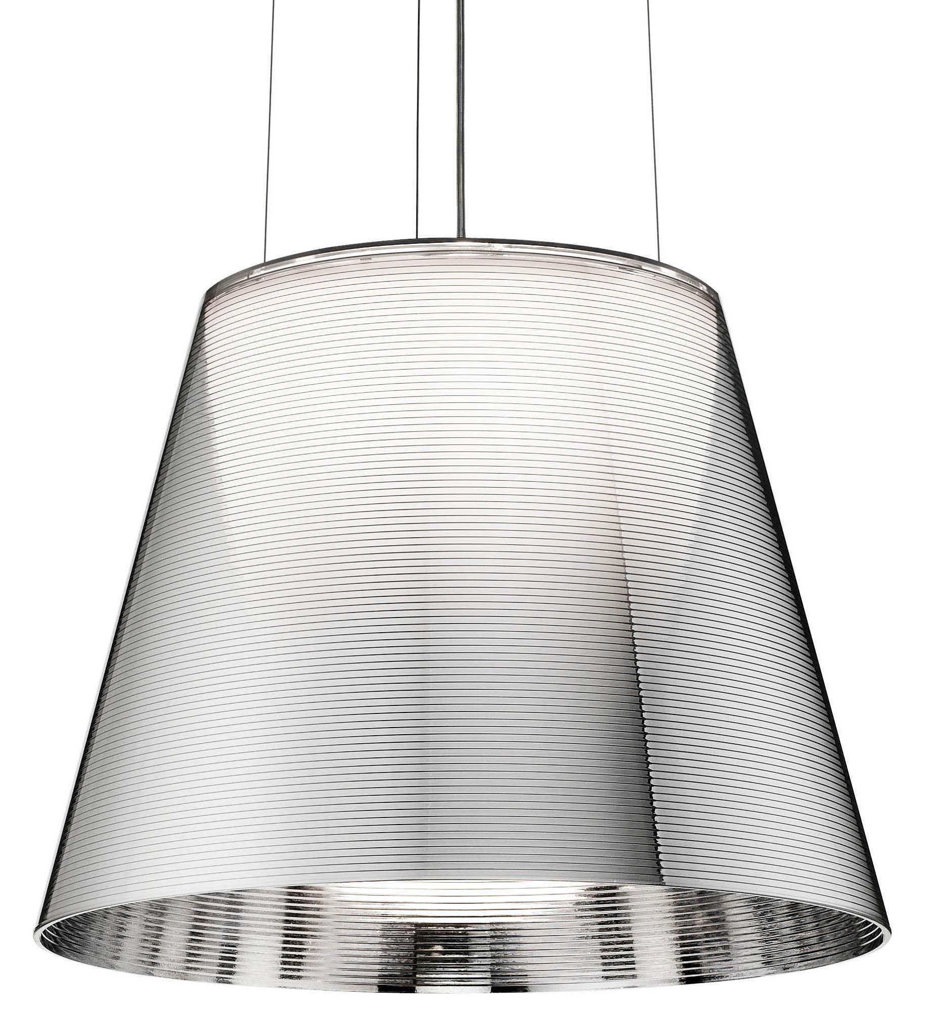 Illuminazione - Lampadari - Sospensione K Tribe S2 - Ø 39.5 cm di Flos - Argento metallizzato - PMMA