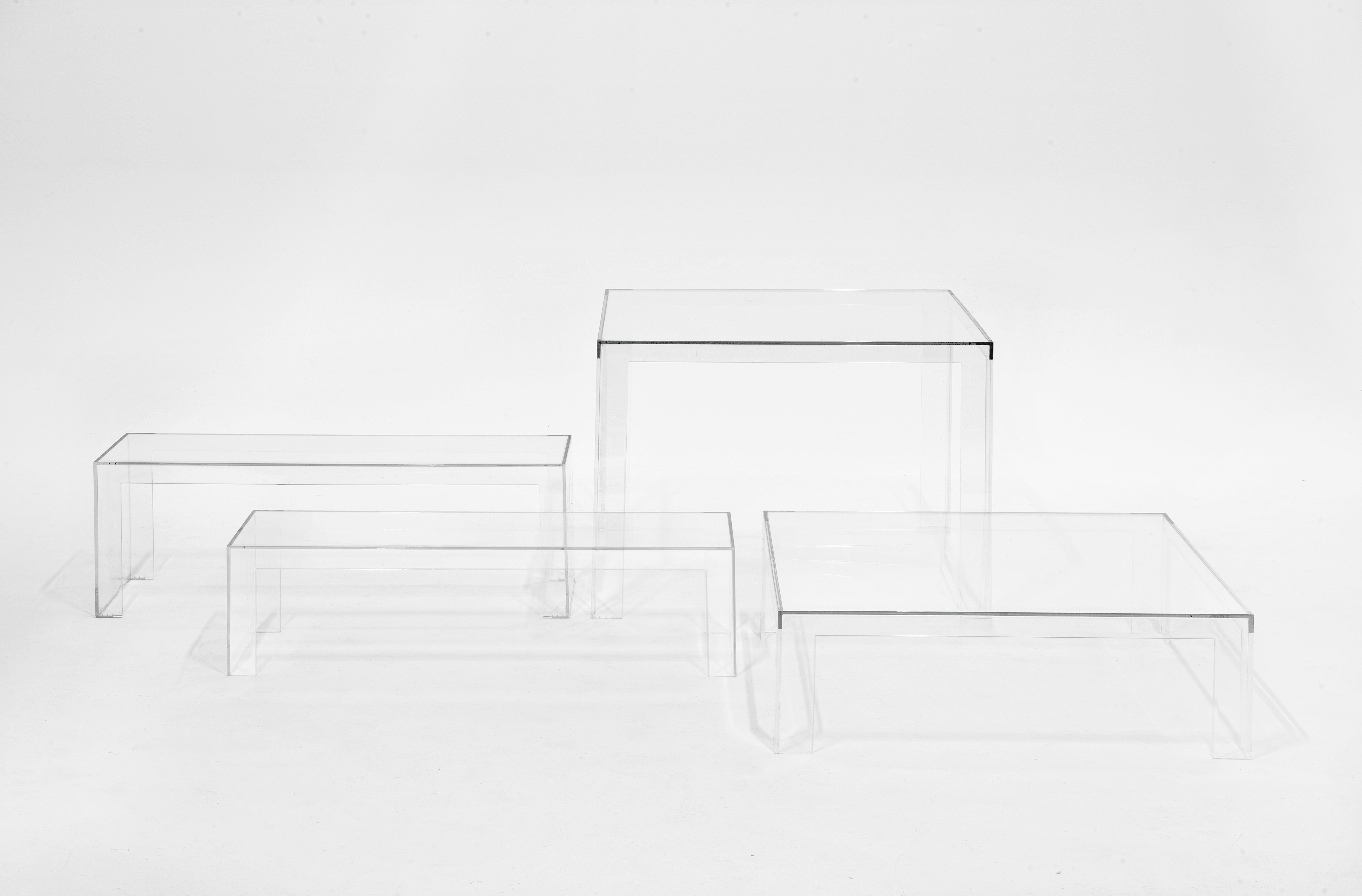 Invisible Square Table H 72 Cm By Kartell