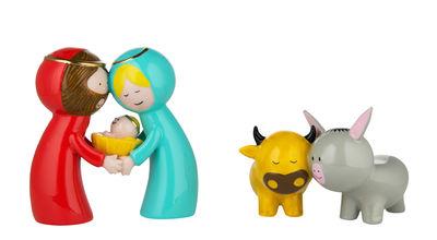 Interni - Oggetti déco - Statuina del presepio Happy Eternity Baby - / Set da 2 - Porcellana dipinta a mano di A di Alessi - Multicolore - Porcellana