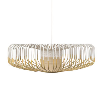 Luminaire - Suspensions - Suspension Bamboo Up XXL / Ø 80 cm - Forestier - Blanc - Bambou