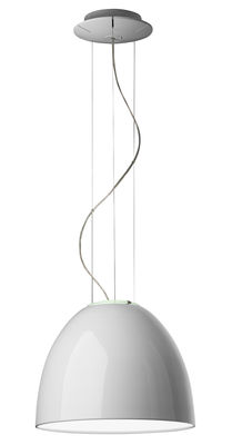 Suspension Nur Mini Gloss Ø 36 cm - Version laquée - Artemide blanc laqué en métal