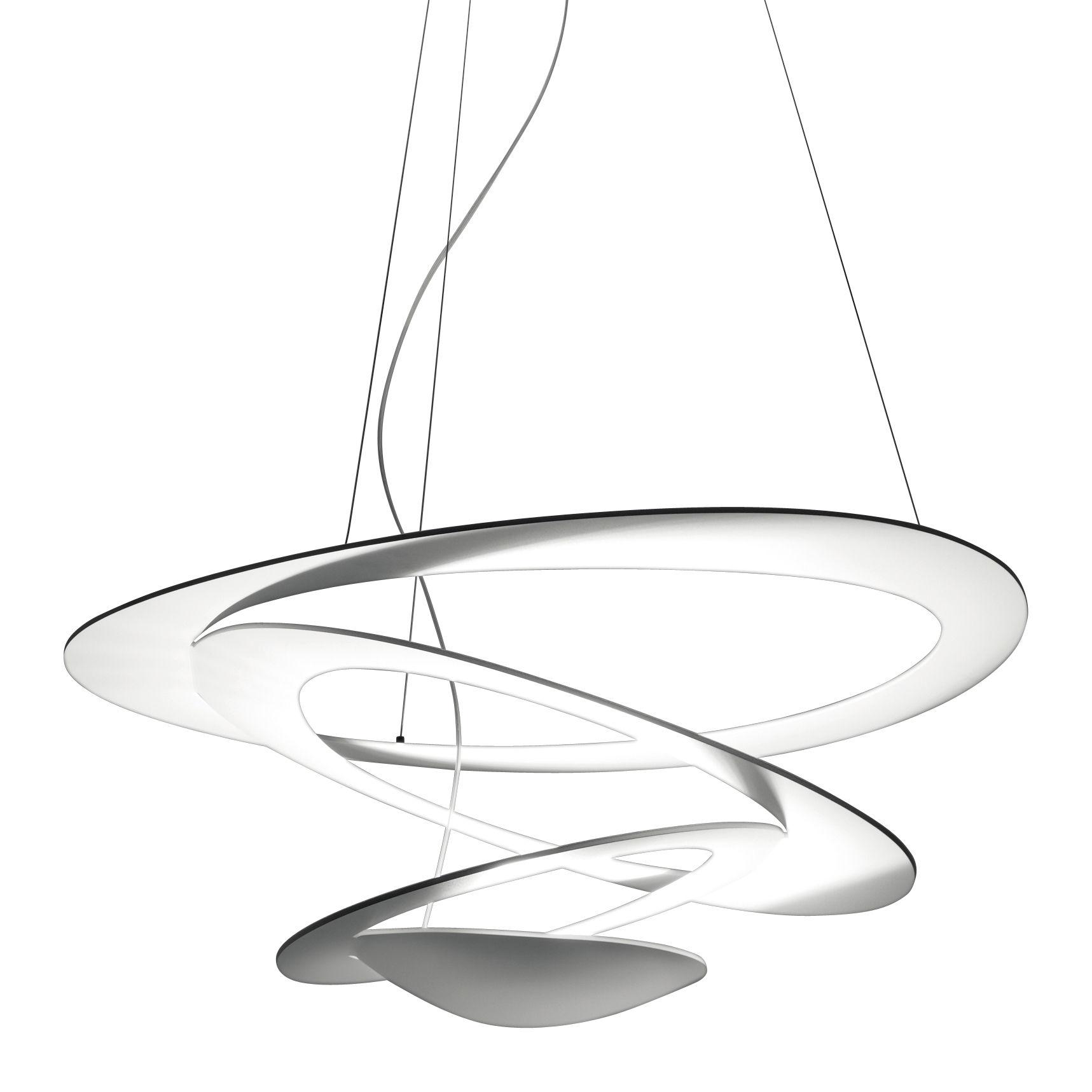 Luminaire - Suspensions - Suspension Pirce Mini / Ø 69 cm - Artemide - Blanc - Aluminium verni