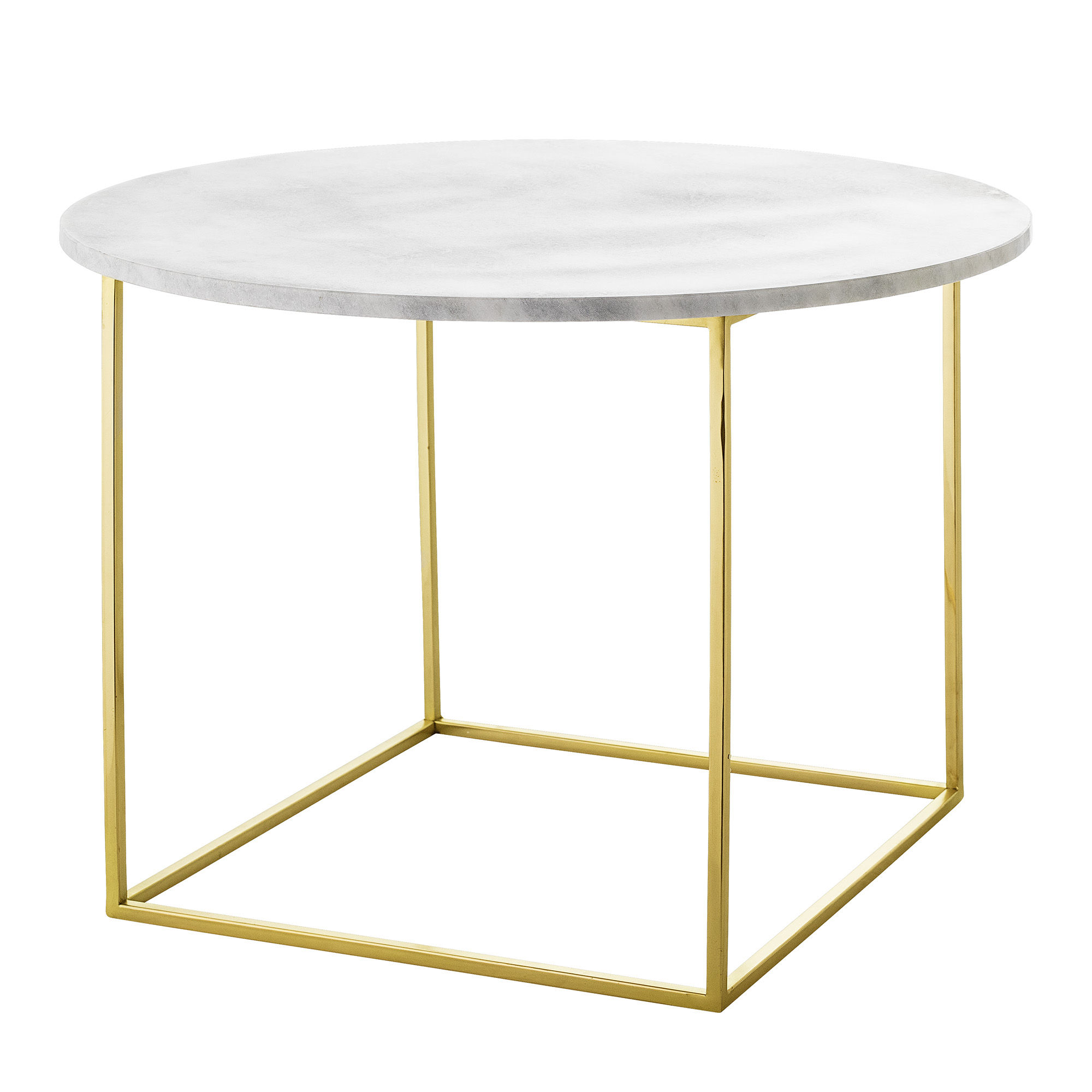 Mobilier - Tables basses - Table basse Eva / Marbre - Ø 60 cm - Bloomingville - Marbre blanc / Or - Fer finition dorée, Marbre