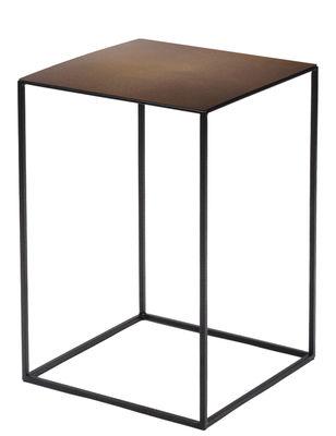 Table basse Slim Irony / 31 x 31 x H 46 cm - Zeus rouille,noir cuivré en métal