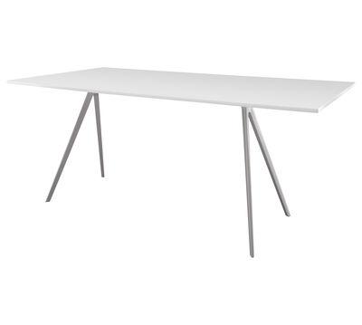 Table rectangulaire Baguette / MDF - 160 x 85 cm - Magis blanc en métal