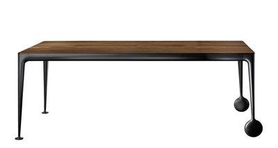 Table rectangulaire Big Will / 200 x 100 cm - Noyer - Magis noir,noyer naturel en métal