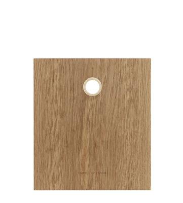 Cucina - Utensili da cucina - Tagliere Small - / 28 x 25 cm di Frama  - Small / Rovere & ottone - Massello di quercia oliato, Ottone