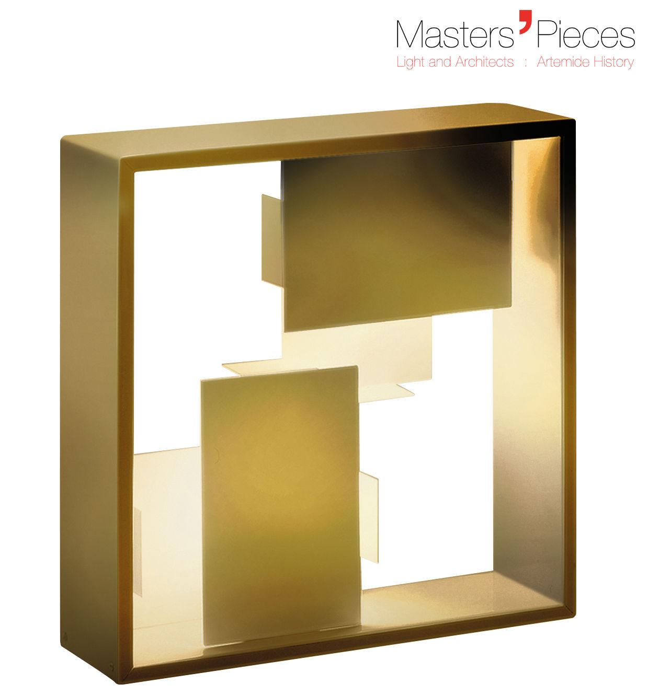 Leuchten - Tischleuchten - Masters' Pieces - Fato Tischleuchte / Neuauflage des Originals aus dem Jahr 1969 - Artemide - Goldfarben - lackiertes Metall