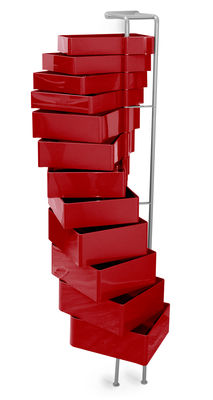 Furniture - Shelves & Storage Furniture - Spinny Wall storage by B-LINE - Red - ABS, Varnished steel