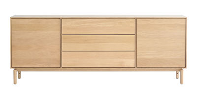 Möbel - Kommode und Anrichte - Modulo Large Anrichte / L 182 cm - 2 Türen + 3 Schubladen - Ercol - Eiche - massive Eiche