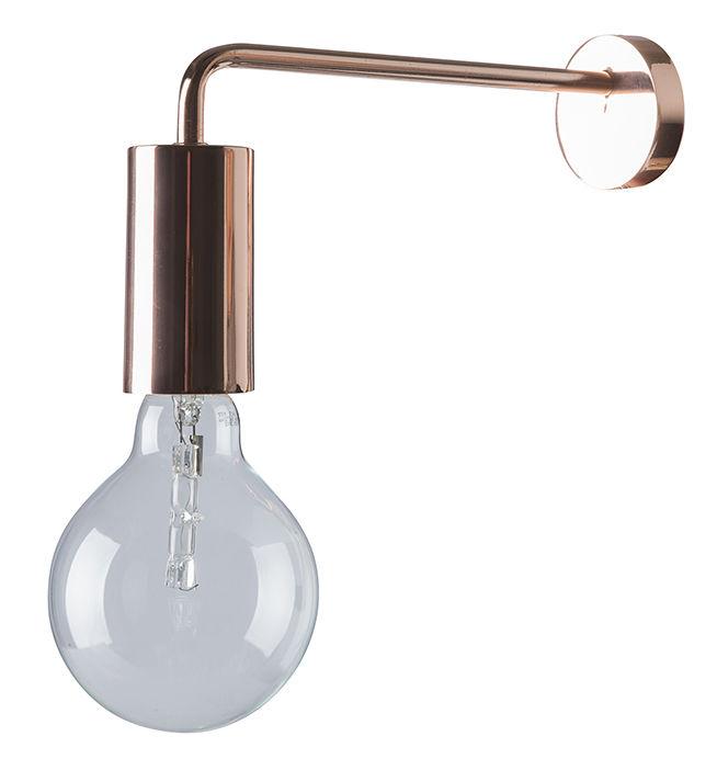 Luminaire - Appliques - Applique avec prise Cool - Frandsen - Cuivre - Métal finition cuivre