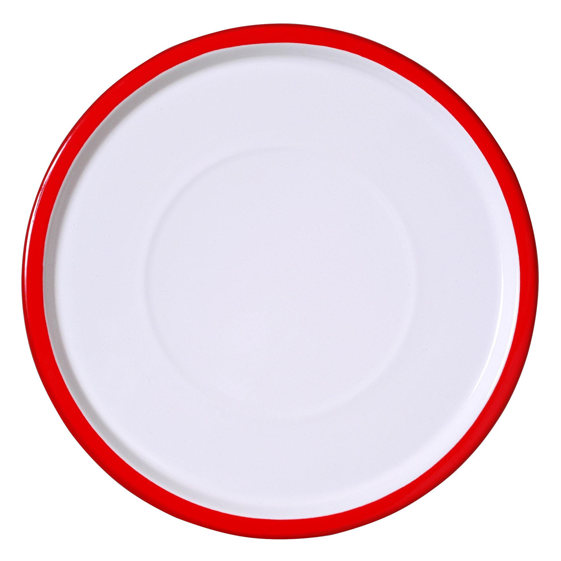 Arts de la table - Assiettes - Assiette I Perfetti / Ø 31 cm - Variopinte - Rouge - Métal émaillé