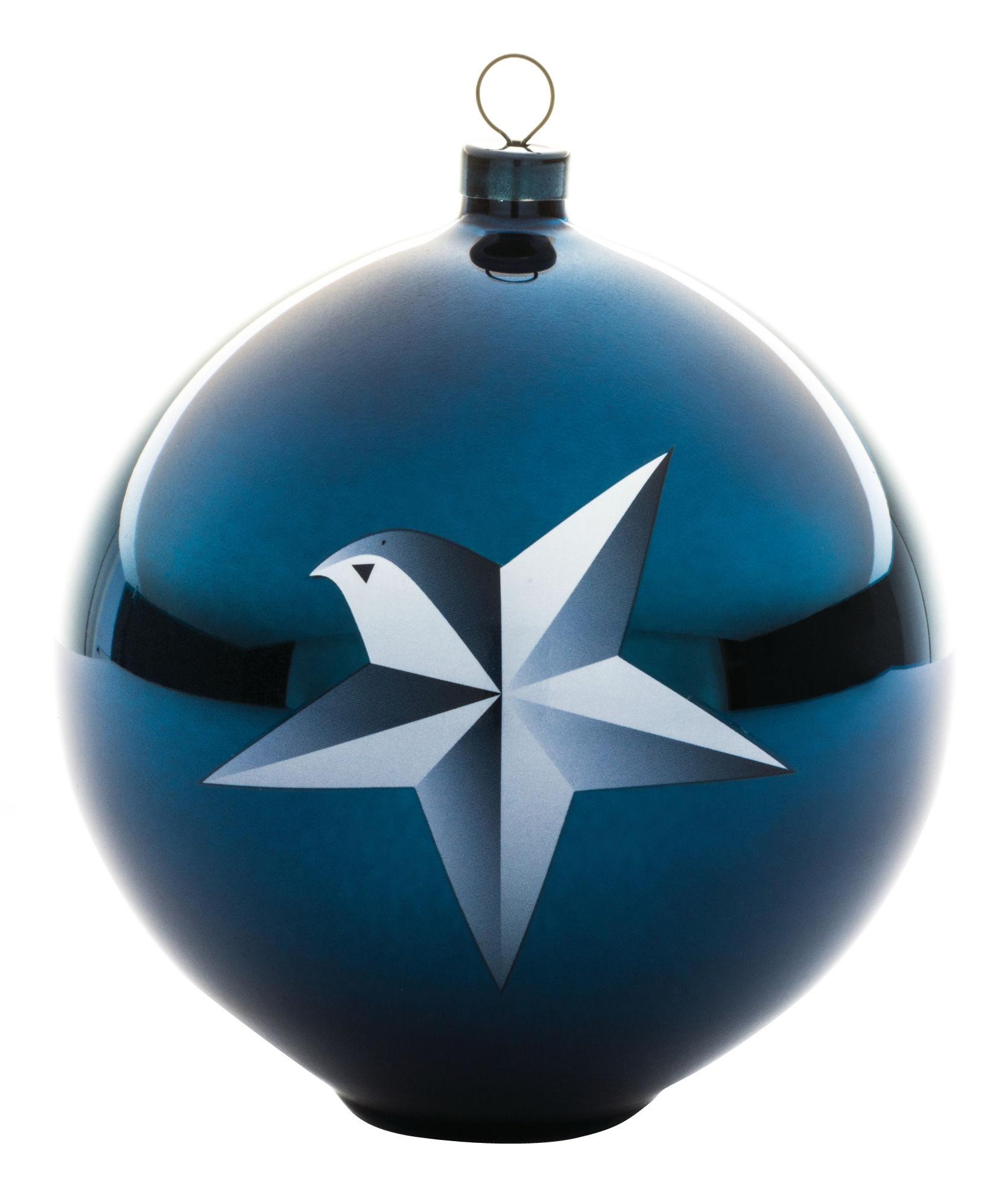 Déco - Objets déco et cadres-photos - Boule de Noël Blue christmas / Verre soufflé - A di Alessi - Etoile - Verre soufflé décoré à la main