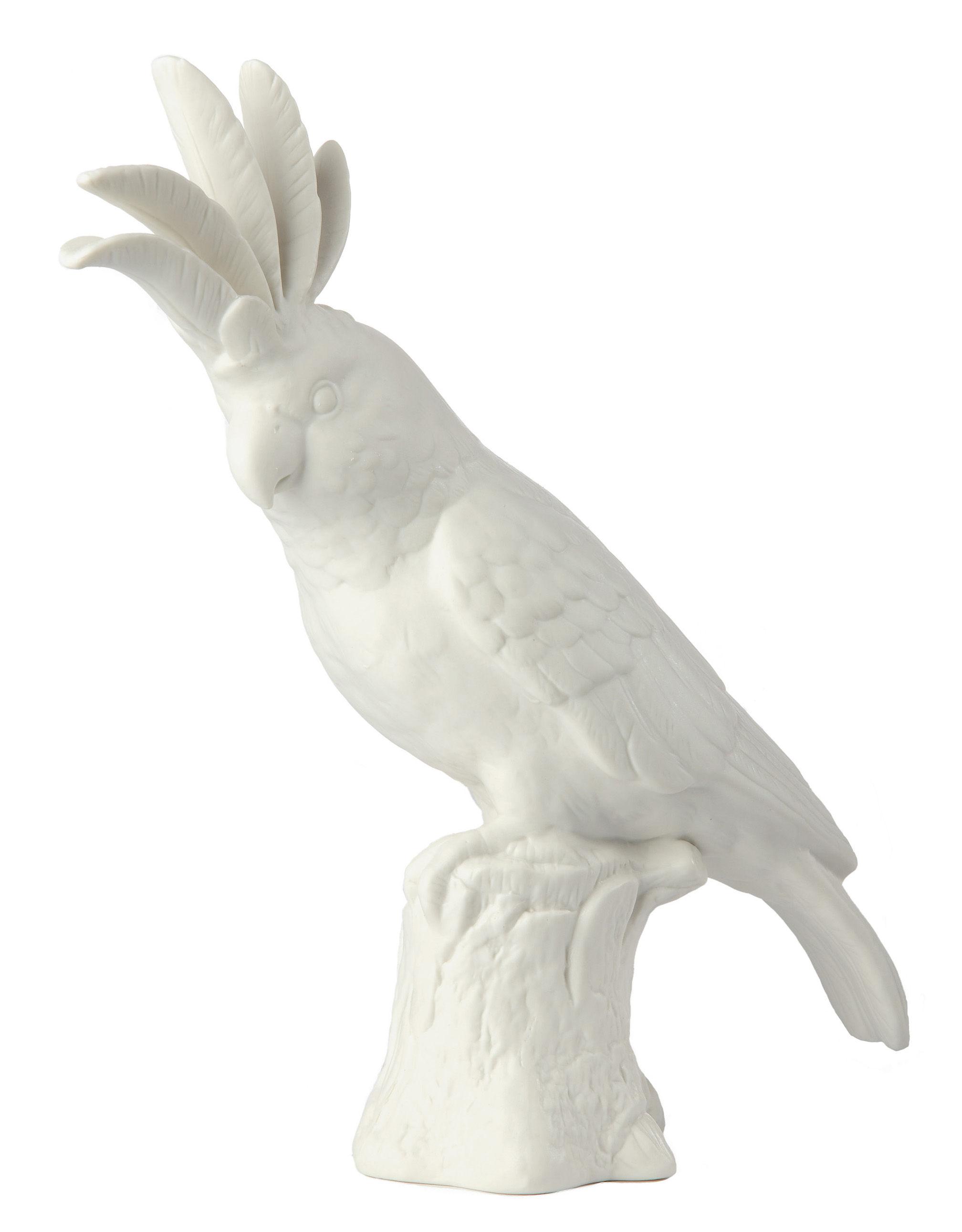 Interni - Oggetti déco - Decorazione Cacatoès - / Porcellana - H 33 cm di Pols Potten - Cacatuidi / Bianco - Porcellana