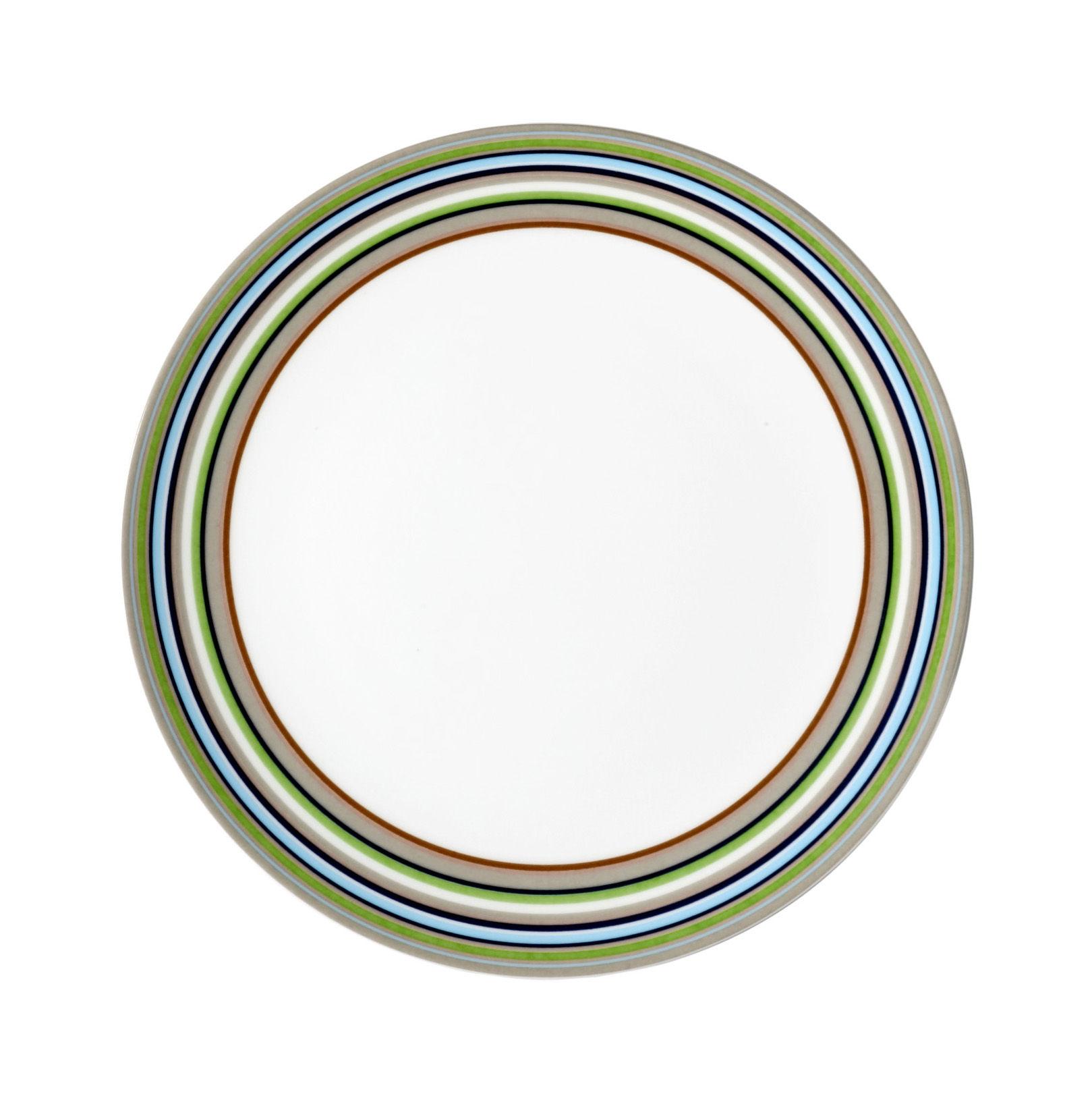 Tableware - Plates - Origo Dessert plate - Ø 20 cm by Iittala - Stripe Beige  Ø 20 cm - China