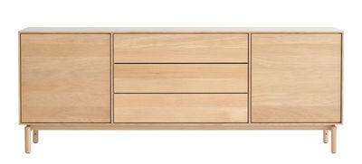 Furniture - Dressers & Storage Units - Modulo Large Dresser - / L 182 cm - 2 doors + 3 drawers by Ercol - Oak - Solid oak