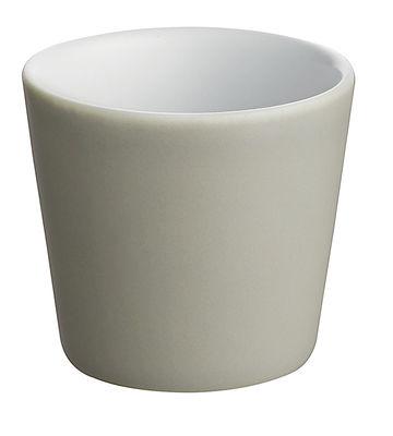 Tischkultur - Tassen und Becher - Tonale Espressotasse - Alessi - Hellgrau / innen weiß - Keramik im Steinzeugton