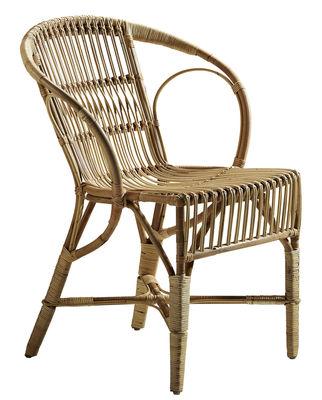 Mobilier - Fauteuils - Fauteuil Robert / Réédition 1902 - Sika Design - Fauteuil naturel - Rotin