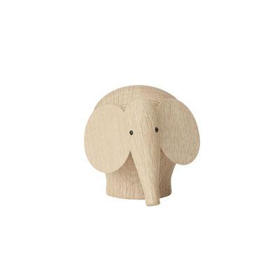 Déco - Pour les enfants - Figurine Nunu SMALL / Eléphant - L 14 cm - Woud - Eléphant / Chêne - Chêne massif