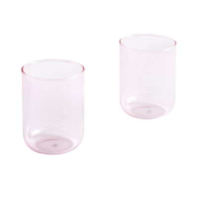 Tableware - Wine Glasses & Glassware - Tint Large Glass - / Set of 2 - H 9 cm / 300 ml by Hay - Pink - Borosilicated glass