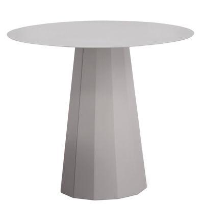 Guéridon Ankara M / Ø 70 x H 60 cm - Matière Grise gris alu en métal