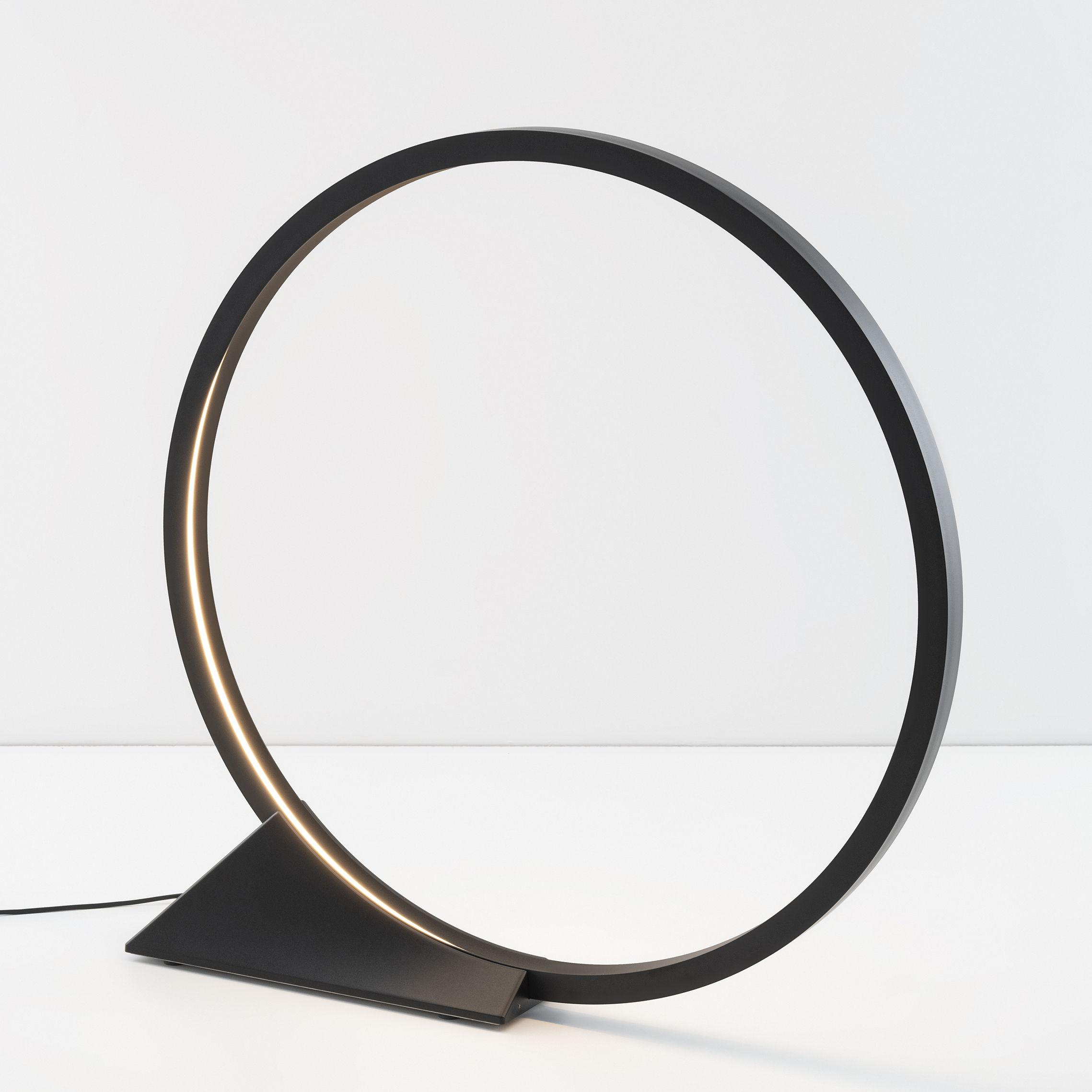 Luminaire - Lampadaires - Lampe à poser O / LED - Ø 90 cm - Détecteurs mouvements - Artemide - Noir - Aluminium extrudé, Fonte d'aluminium