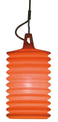 Luminaire - Lampes de table - Lampe de table Lampion / à poser ou supendre - Pour l'extérieur - Rotaliana - Orange - Silicone