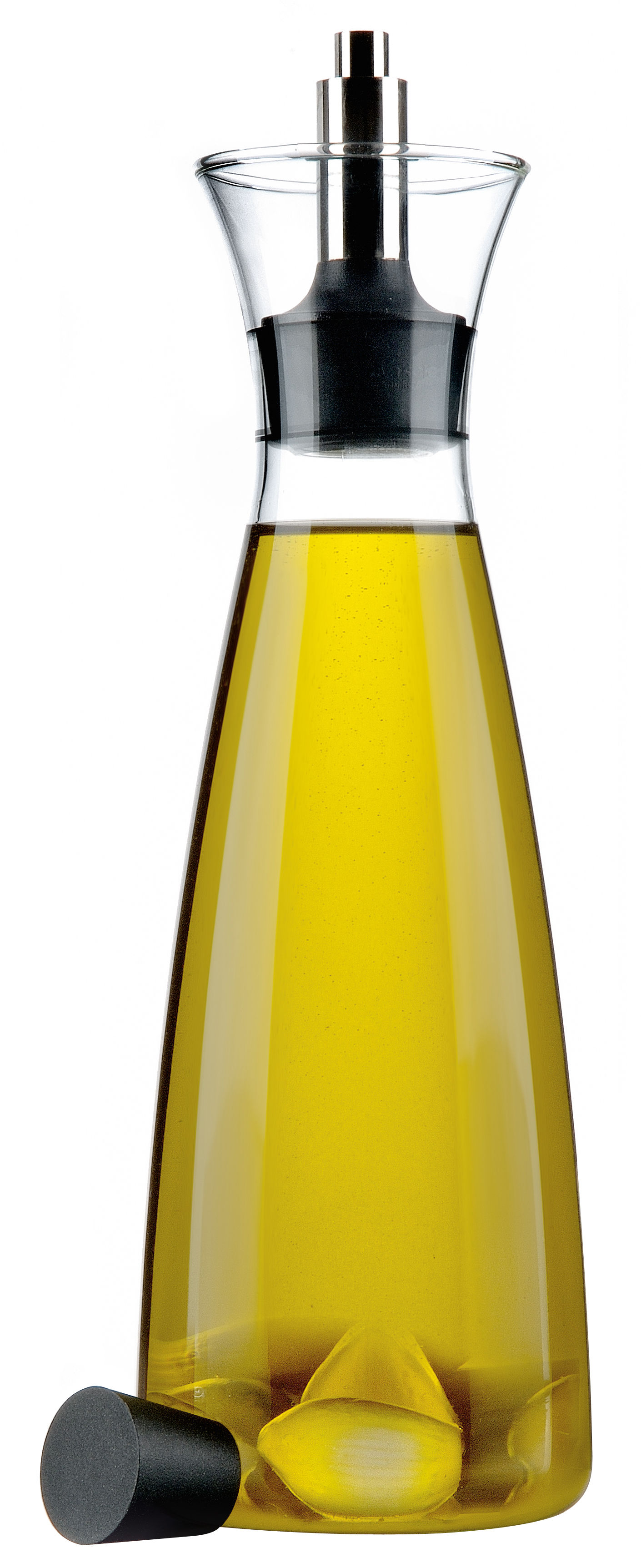 Tischkultur - Öl und Essig - Ölständer Tropffreie Öl/Essig Karaffe - Eva Solo - Durchsichtig - Glas, rostfreier Stahl