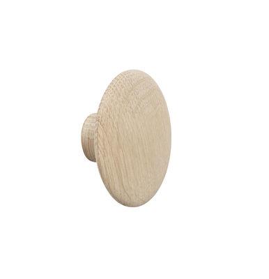 Mobilier - Portemanteaux, patères & portants - Patère The dots / XSmall - Ø  6,5 cm - Muuto - Chêne naturel - Chêne naturel