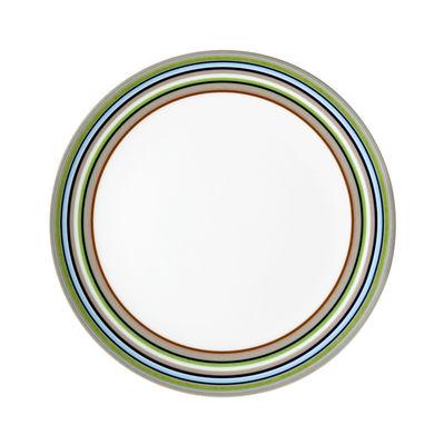 Tavola - Piatti  - Piatto da dessert Origo - Ø 20 cm di Iittala - Righe beige - Porcellana