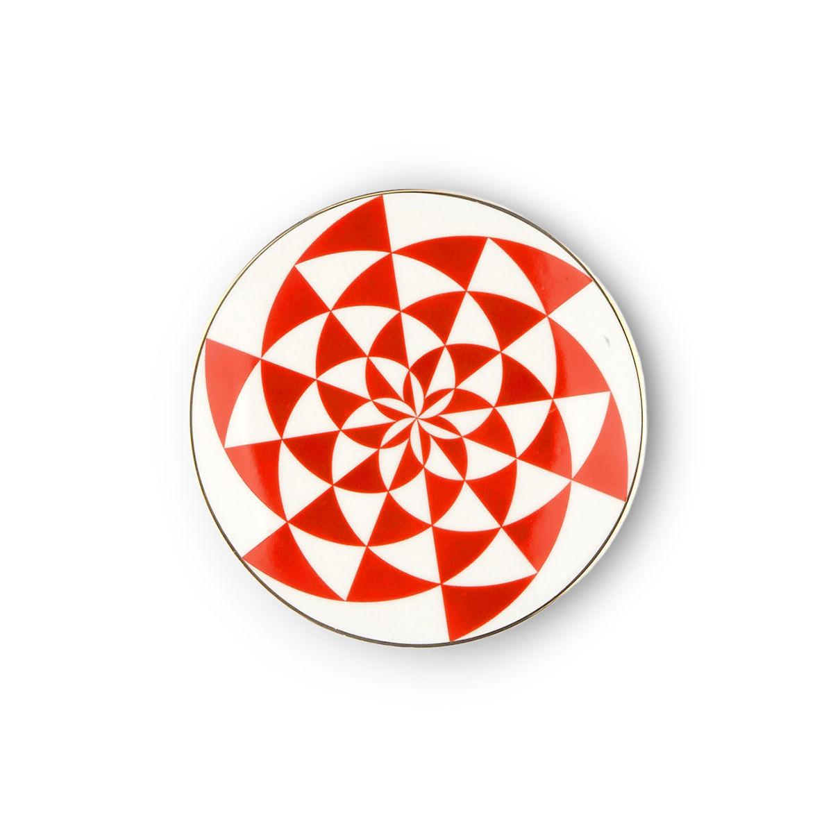 Tavola - Piatti  - Piatto per dolcetti Oracolo - / Ø 12 cm di Bitossi Home - Geometria - Porcellana