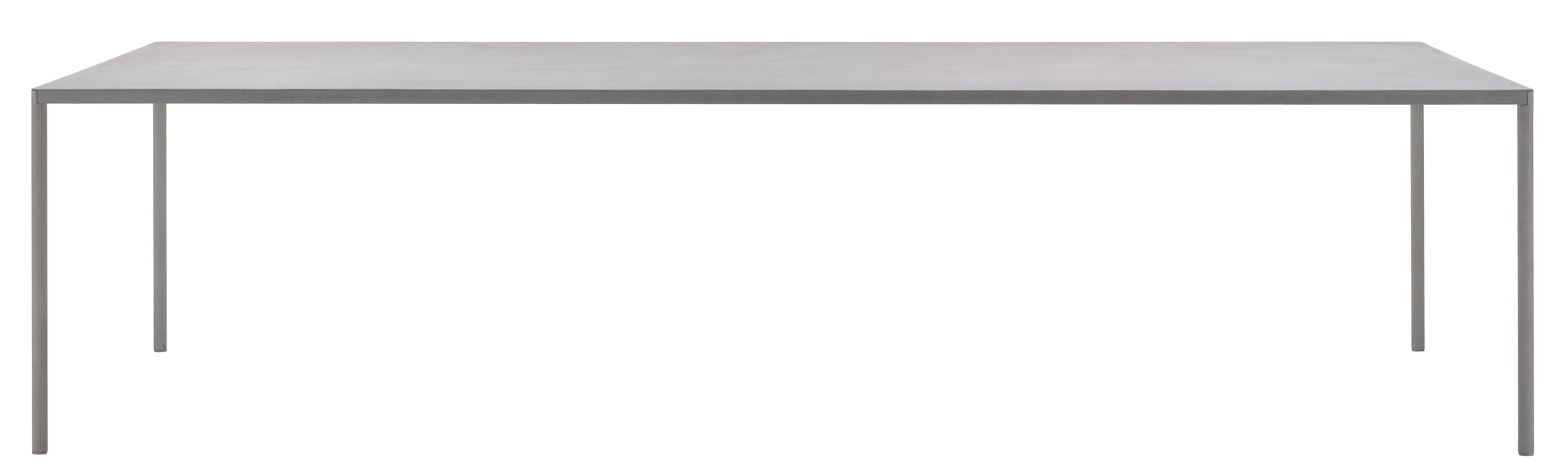 Möbel - Tische - Robin rechteckiger Tisch 100 x 220 cm - mit Beton - MDF Italia - Beton hellgrau - Zement